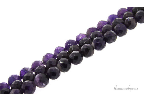 Amethyst beads large facet around 10mm