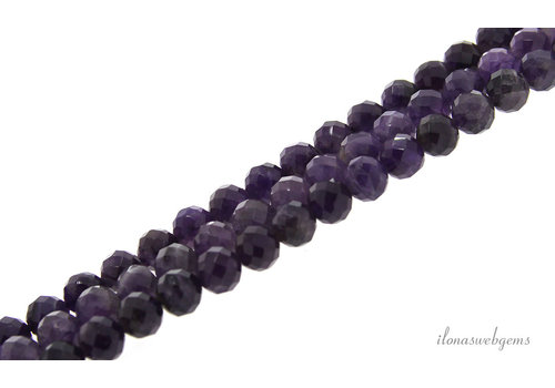 Amethyst beads large facet around 8mm