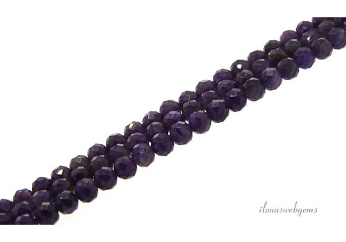 Amethyst beads large facet around 6mm