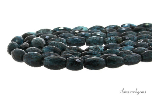 Kyanite teal blue facet barrels A quality ascending and descending from approx. 6.5x5 to 10x6.5mm