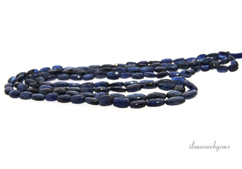 Kyanite faceted ovals A quality ascending and descending from approx. 6x5x 3 to 10x7x4mm