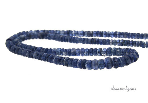 Kyanite faceted roundel A quality ascending and descending from approx. 4x2 to 6x3mm