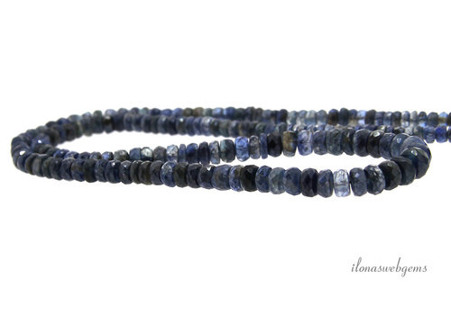 Mystic Kyanite faceted roundels ascending and descending from approx. 3x2 to 6x3.5mm