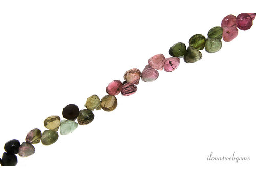 Tourmaline faceted briolettes A quality approx. 3.5x3mm