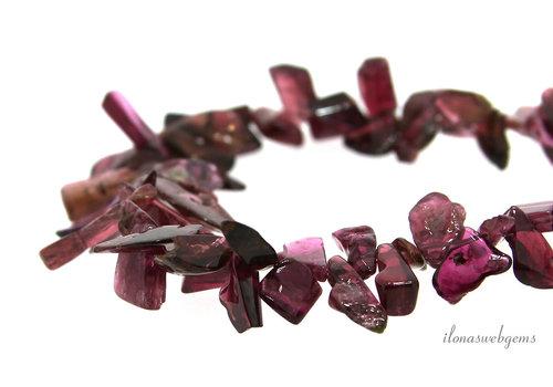 Roze Toermalijn kralen side drill 3