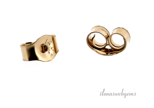 1 pair of 14 carat gold pousettes approx. 4.8x3.8mm