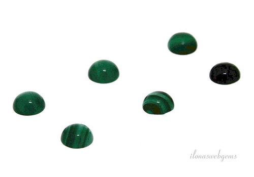 Malachite cabochon approx 6mm