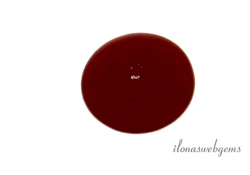 Red coral roundel half drilled approx 5.5mm
