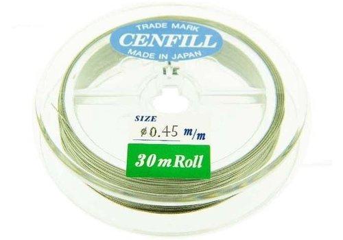 1 meter Cenfill RVS gecoat rijgdraad 0.45mm (7 draads)