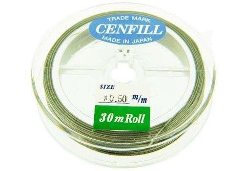 1 meter Cenfill RVS gecoat rijgdraad 0.50mm (19 draads)