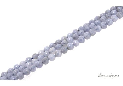 Chalcedony beads around 6mm