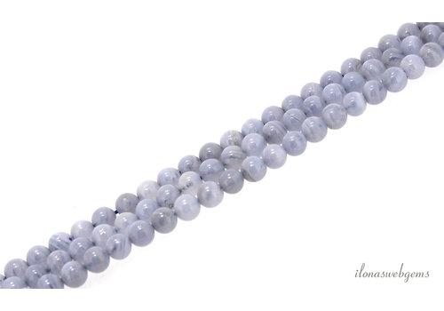 Chalcedoon kralen rond ca. 4mm