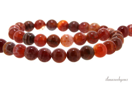 Crab Agate beads round about 8mm