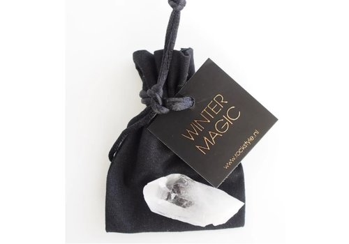 Rock Style Giftbag 'Winter magic' Rock crystal