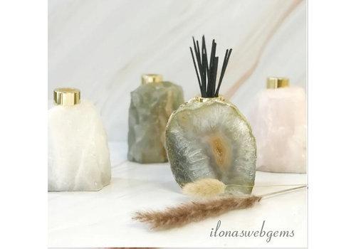 "Rockstyle Gemstone diffuser for fragrance sticks Aragonite ""Silver"""