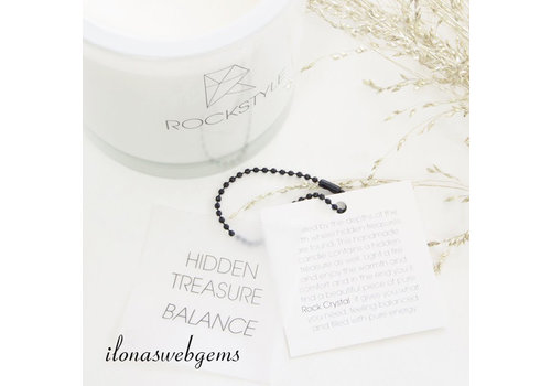 Rockstyle Hidden Treasure Candle white - BALANCE - Rock crystal