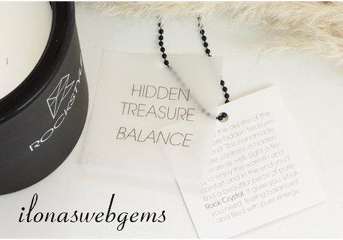 Rockstyle Hidden Treasure Candle black - BALANCE - Bergkristal