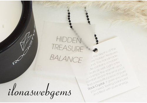 Rockstyle Hidden Treasure Candle black - BALANCE - Rock crystal