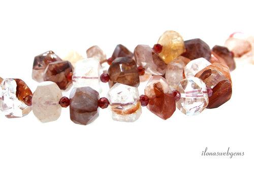 Pink fire Azeztulite beads free shape around 15x13x9mm