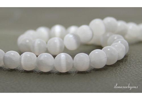 Selenite beads around 8mm