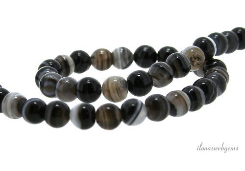 Striped agate beads around 8mm