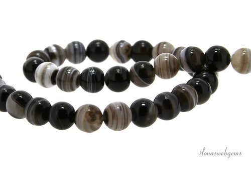 Striped agate beads around 6mm