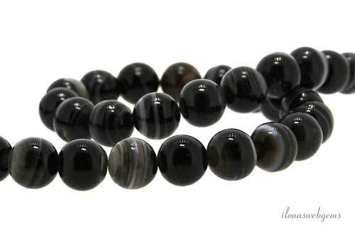 Striped agate beads around 10mm