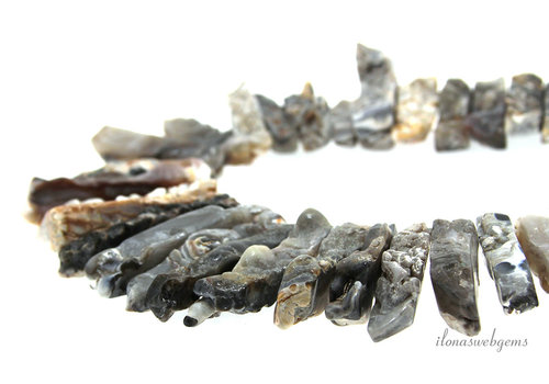 Agate beads rough side drill ascending and descending from 19x7 to 40x7mm