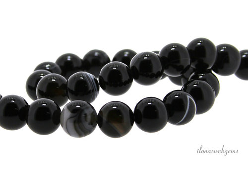Black agate beads around 10mm