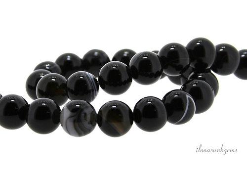 Black agate beads around 10mm