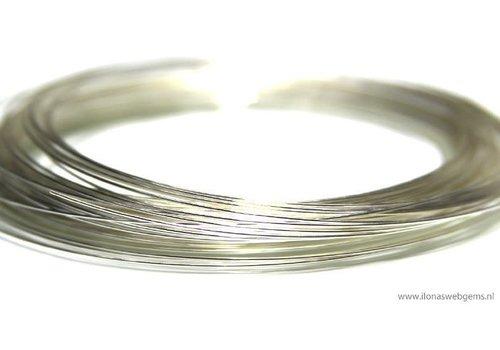 1cm sterling zilverdraad hard ca. 0.5mm / 24GA