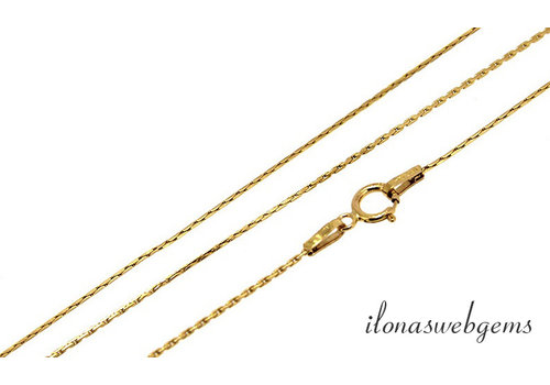 14k / 20 Gold filled necklace with clasp approx 0.65mm approx 40cm
