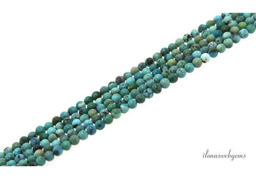 Turquoise beads around mini about 2mm