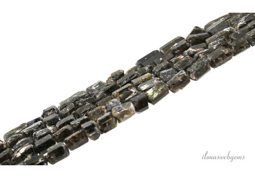 Tourmaline beads rough about 8.5x6mm