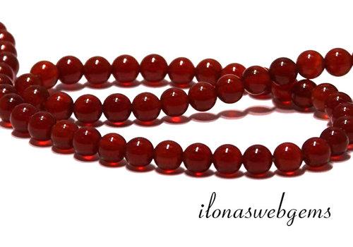 Carnelian - Carnelian beads about 6mm