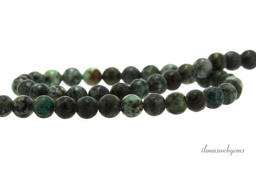 African Turquoise beads around 6.5mm