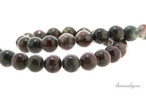 Garnet beads red-green around 8mm