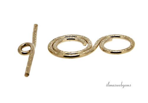 14k/20 Gold filled Kapittelslot