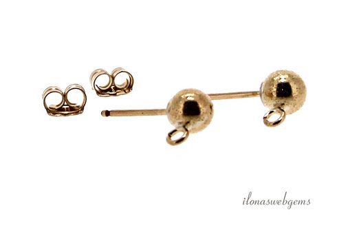 1 pair of 14k / 20 Gold filled Sparkle ear hooks with poussettes