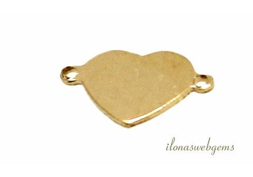 14k/20 Gold filled connector hartje ca. 7mm