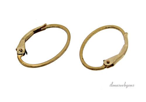 14k/20 Gold filled (wissel) oorhaakjes