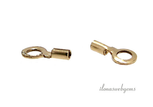 1 piece 14k / 20 Gold filled end cap approx 0.48mm