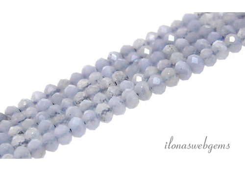 Chalcedony beads faceted roundel about 4x3mm AA quality cut