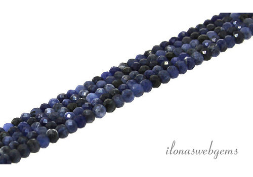 Sodalite beads faceted roundel about 4x3mm AA quality cut