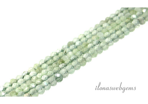 Prehnite beads faceted roundel about 4x3mm AA quality cut