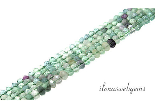 Fluorite beads faceted roundel about 4x3mm AA quality cut