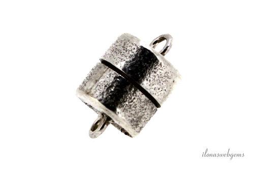 Sterling zilveren magneetslotje ca. 18x12mm