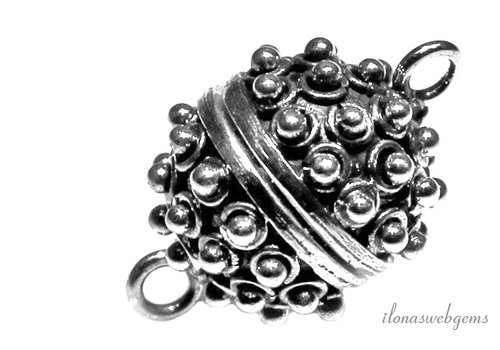Sterling zilveren magneetslot ca. 16mm