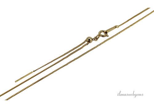 Vermeil collier (beading chain) verstelbaar ca. 1.30mm 45cm