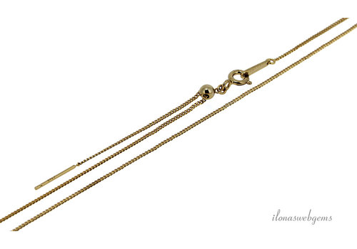 Vermeil necklace (beading chain) adjustable approx. 1.30mm 45cm